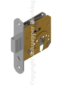 Small mortise door locks brass for cylinder