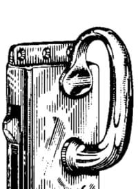 Kasten-Schiebetürschlösser Messing mit Beschlägen