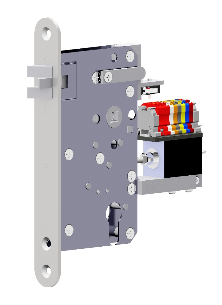 Special mortise locks with electronics for access rights and