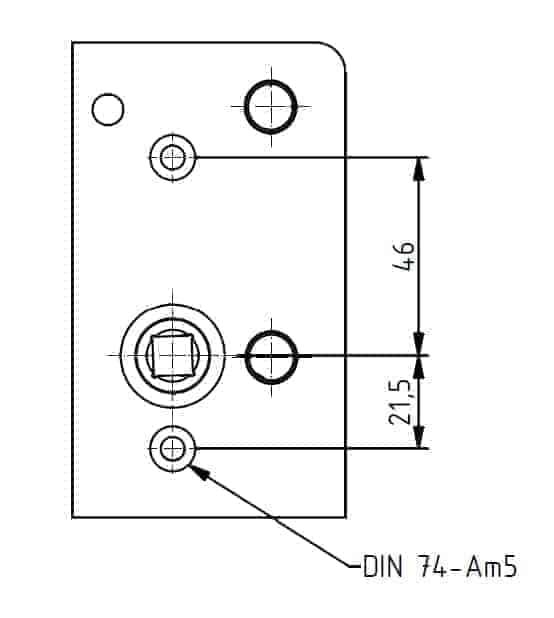 Optionales Feature - mit durchgehenden Löchern<br />für Hülsenschrauben