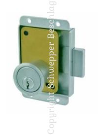 Cabinet locks with cylinder keyed differently brass