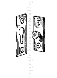 Anschraubösen / Spiegelbeschläge / Krawattenhalter