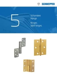 Schwepper main catalog section 05 / Hinges, Joint Hinges and Hasps