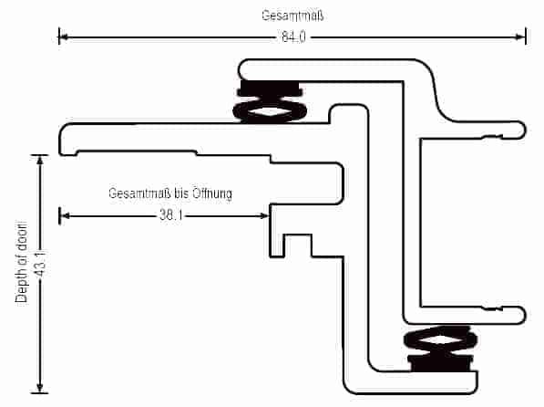 Dimensionen (max 850 x 2000mm Standard)